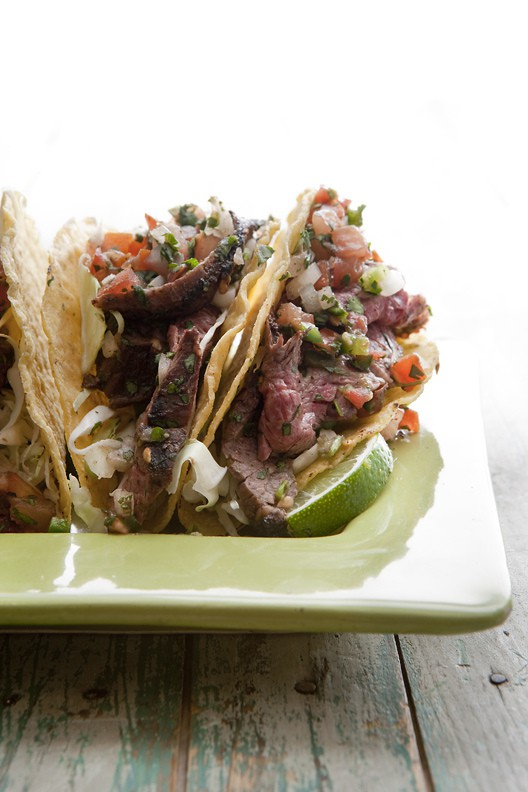 Grilled Steak-and-Salsa Tacos