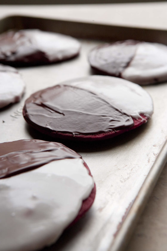 gluten-free black-and-white cookies