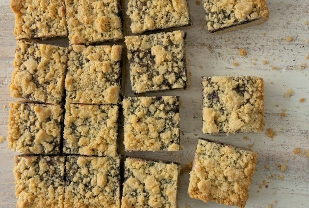 Gluten-Free, Dairy-Free Jam Crumble Cookie Squares