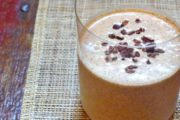 Gluten-Free, Dairy-Free Creamy Cocoa Nib & Almond Butter Smoothie