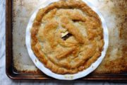 Gluten-Free Apple-Raisin Pie with Walnut-Cream Cheese Crust