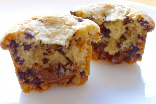 Gluten-Free Salted Molten Chocolate Chip Dulce-de-Leche–Stuffed Cookies