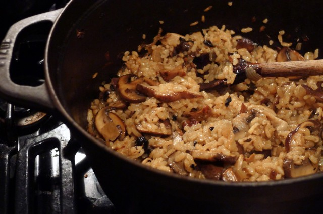 Gluten-Free, Dairy-Free Baked Mushroom Risotto