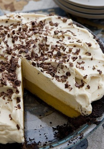 Gluten-Free Double-Decker Pumpkin-Caramel Pie